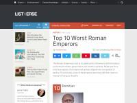 http://listverse.com/2010/05/09/top-10-worst-roman-emperors/