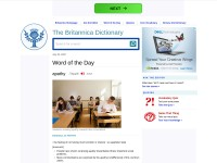 http://learnersdictionary.com/word-of-the-day