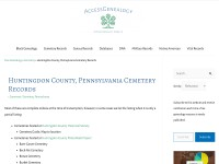 http://www.accessgenealogy.com/cemetery/huntingdon-county-pennsylvania-cemetery-records.htm