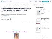 https://www.scribd.com/doc/293264593/We-Announce-With-Great-Joy-We-Have-a-New-Bishop-by-Dr-AEA-Joseph