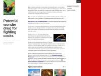 http://blakliz.wordpress.com/2013/11/26/potential-wonder-drug-for-fighting-cocks/