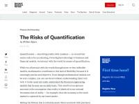 http://blogs.hbr.org/cs/2011/05/the_risks_of_quantification.html