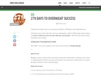 http://chrisguillebeau.com/3x5/overnight-success
