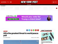 http://nypost.com/2014/01/05/us-is-the-greatest-threat-to-world-peace-poll/