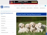 http://www.akc.org/dog-breeders/bred-with-heart/health-testing-requirements/