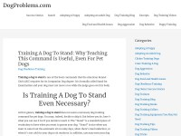 http://www.dogproblems.com/dog-obedience-training/training-a-dog-to-stand/