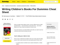 http://www.dummies.com/how-to/content/writing-childrens-books-for-dummies-cheat-sheet.html