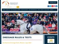 http://www.equestrian.org.au/Dressage-rules