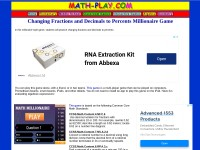http://www.math-play.com/Changing-Fractions-and-Decimals-to-Percents/changing-fractions-and-decimals-to-percents-millionaire.html