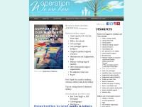 http://www.operationwearehere.com/IdeasforSoldiersCardsLetters.html