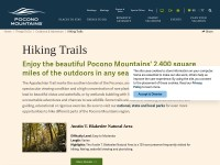 http://www.poconomountains.com/things-to-do/outdoor-adventure/hiking-trails/