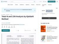 http://www.scribd.com/doc/122472634/Total-N-and-15N-Analysis-by-Kjeldahl-Method