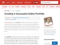 http://www.smashingmagazine.com/2008/03/04/creating-a-successful-online-portfolio/
