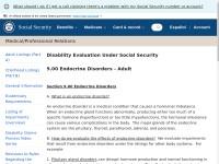 http://www.socialsecurity.gov/disability/professionals/bluebook/9.00-Endocrine-Adult.htm