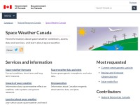 http://www.spaceweather.ca/index-eng.php