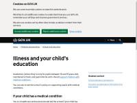 https://www.gov.uk/illness-child-education