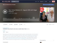 https://www.mixcloud.com/alanjcannon/your-voice-matters-31-august-2018-with-roger-prentice/