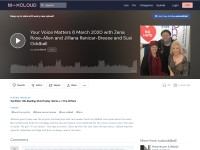 https://www.mixcloud.com/susioddball/your-voice-matters-6-march-2020-with-zena-rose-allen-and-jilliana-ranicar-breese-and-susi-oddball/