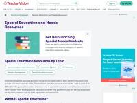 https://www.teachervision.com/special-needs