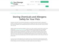 https://www.yourstoragefinder.com/storing-chemicals-and-allergens-safely-for-your-pets